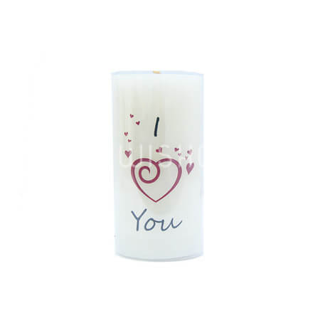 I Love You Candle