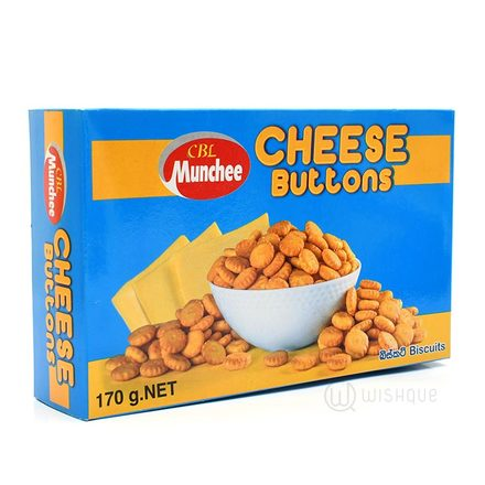 Munchee Cheese Buttons Biscuits 170g