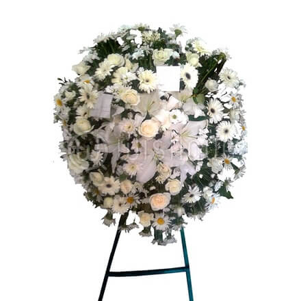Funeral Wreath-X with Stand