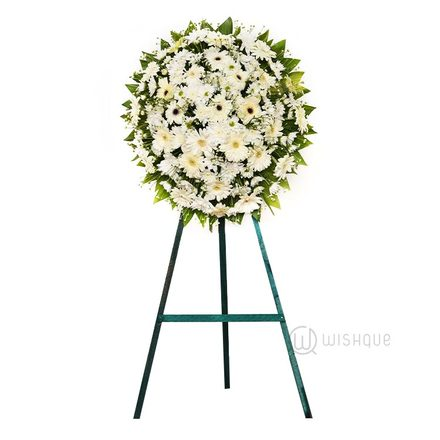 Funeral Wreath- G with Stand