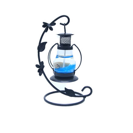 Scented Blue Candle  with Black Stand