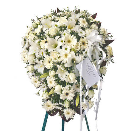 Funeral Wreath-Q with Stand