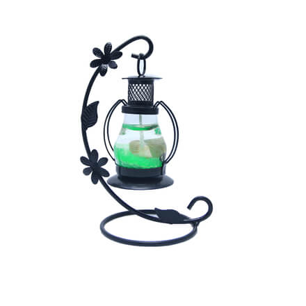 Scented Green Candle  with Black Stand