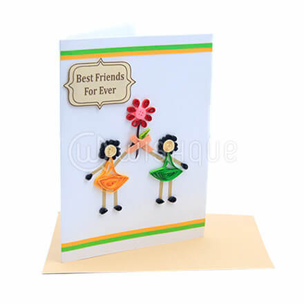 Green & Yellow Friends Forever Card