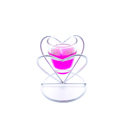 Heart  Shape Scented Candle Pink