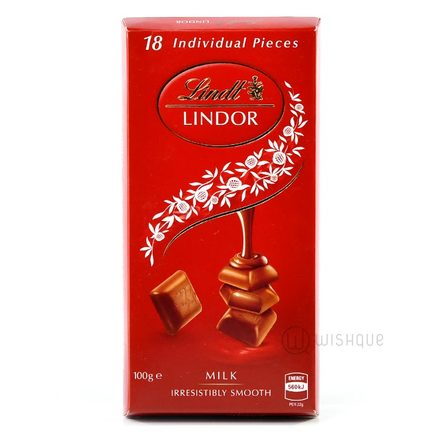 Lindt Lindor Milk Chocolate Block 100g