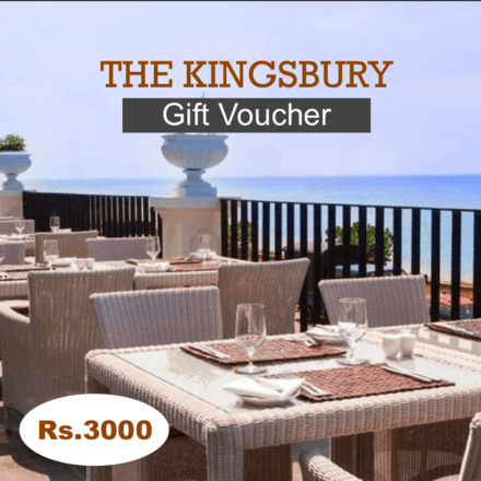 Kingsbury Hotel Gift Voucher Rs.3000
