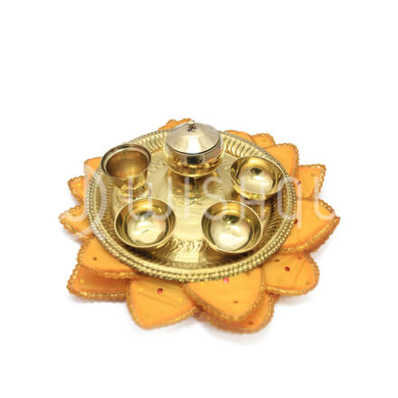 Buddha Poojawa set with Lotus Pad