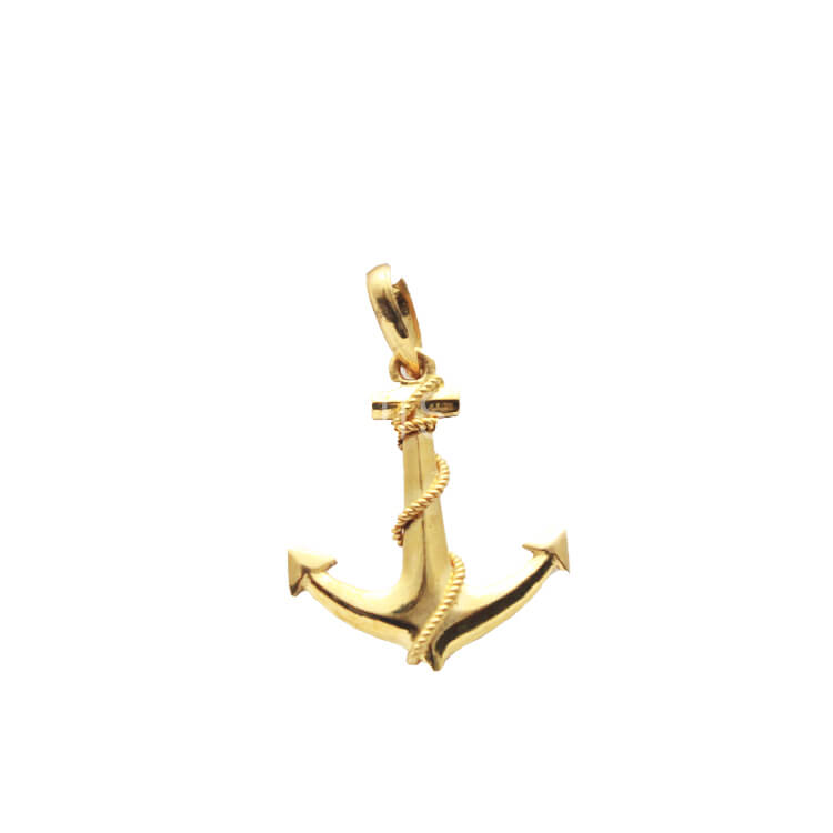 22kt gold anchor shaped pendant small wishque sri lankas 22kt gold anchor shaped pendant small aloadofball Gallery