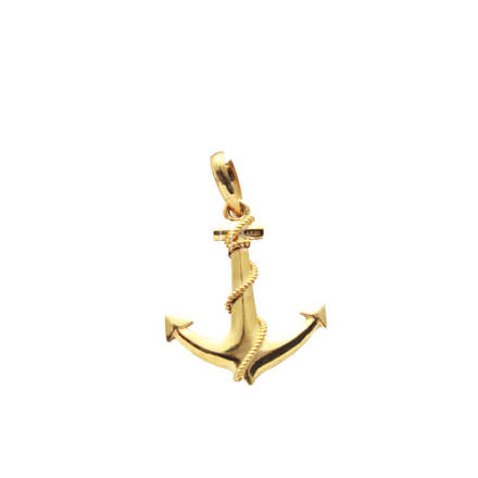 22kt Gold Anchor shaped Pendant Small