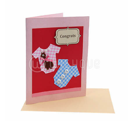Baby Dress Congratulations Card