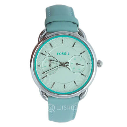 FOSSIL Sea Glass Leather Tailor Multifunctional Women's Watch ES3951
