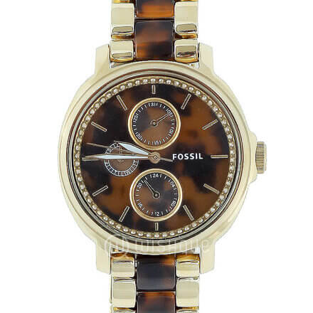 FOSSIL Jacqueline Multifunction Stainless Steel Acetate Women's Watch ES3923
