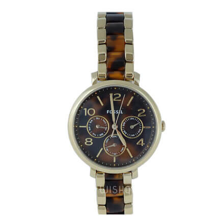 FOSSIL Jacqueline Multifunction Gold Tone and Acetate Women's Watch ES3925