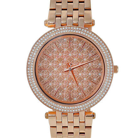 MICHAEL KORS Darci Rose Gold Tone Designer Women's Watch MK3399