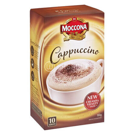 Moccona Cappuccino Sachets 10 Pack