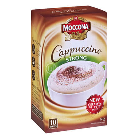 Moccona Cappuccino Strong Sachets 10 Pack