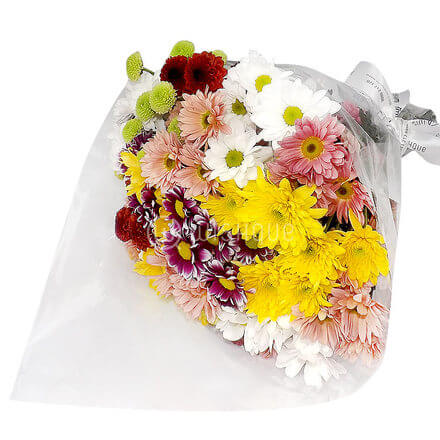 Bouquet of  Multicolored Chrysanthemums