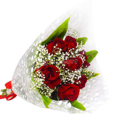 Bouquet of 7 Red Rose