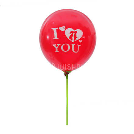 I Love You Red LED Balloon