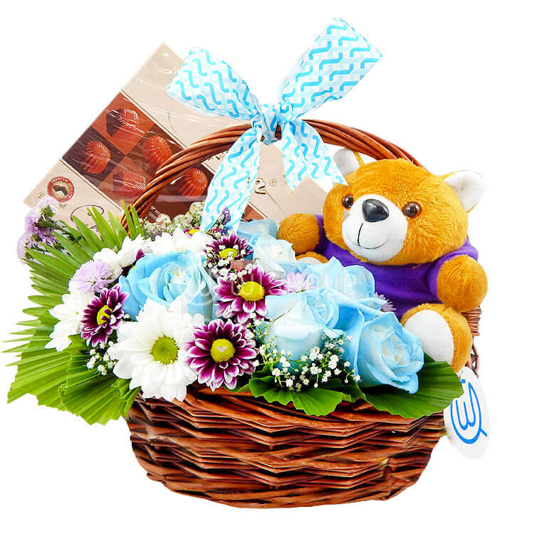 eedb65d4c New Baby Boy Basket - Wishque