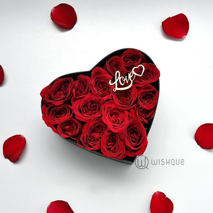 Love Me Like You Do Red Rose Heart Box