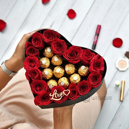 You're Deep Inside My Heart Ferrerose Heart Box