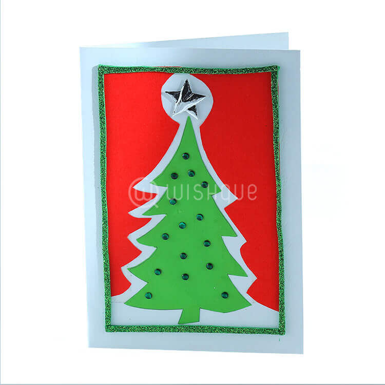 Silver Star Green Christmas Card - Wishque | Sri Lanka\'s Premium ...