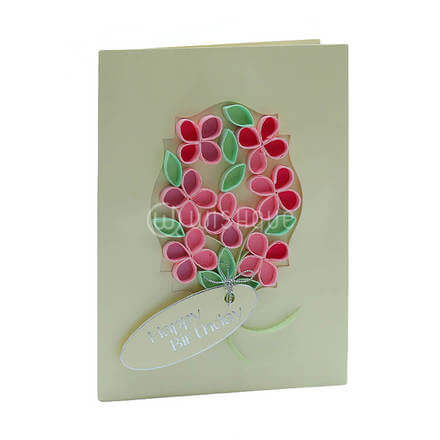 Greenery Mirror Framed Flower Card