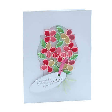 Mirror Framed Flower Bouquet Card