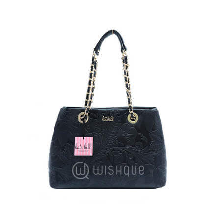 Kate Hill Myah Embossed TOTE S16 Black