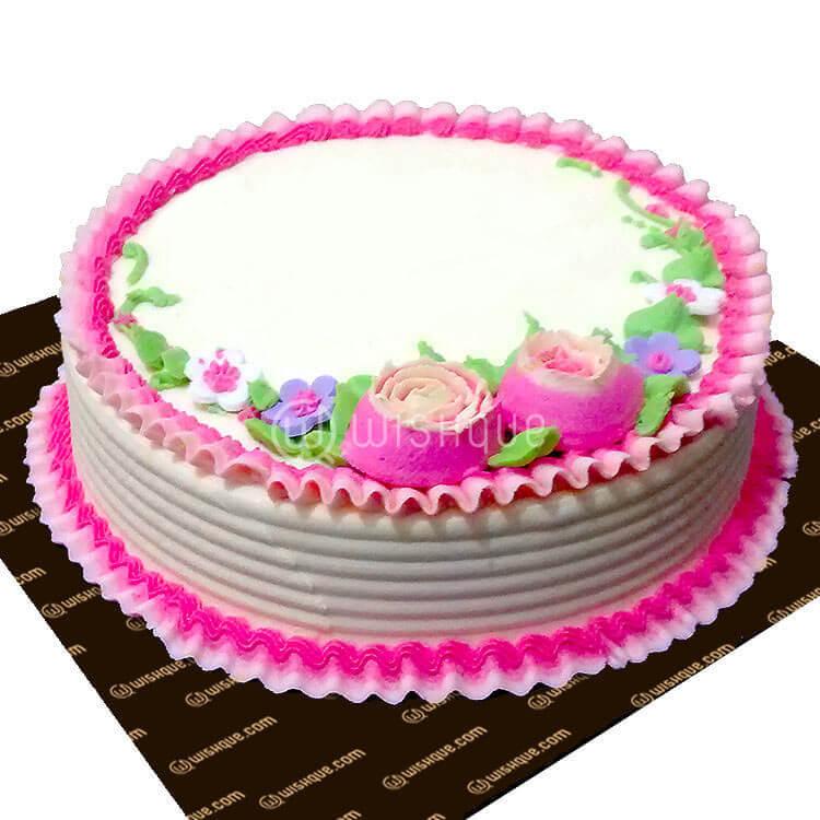 Birthday Round Ribbon Cake Wishque Sri Lankas Premium Online