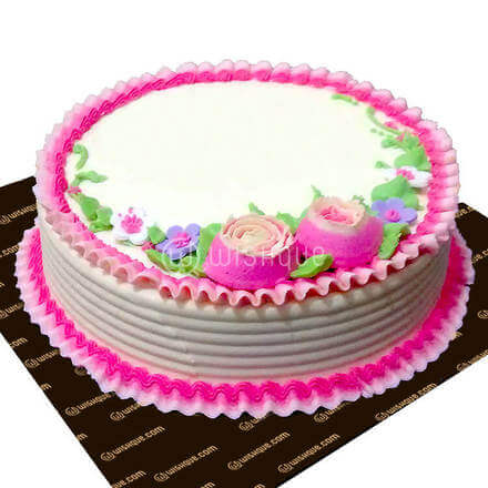 Birthday Round Ribbon Cake