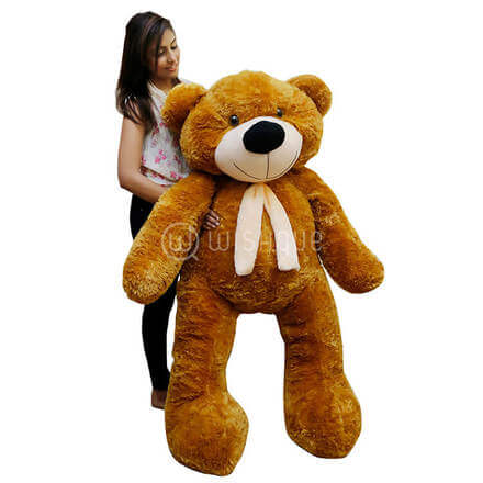 Life Size Teddy Bear Brown-5ft