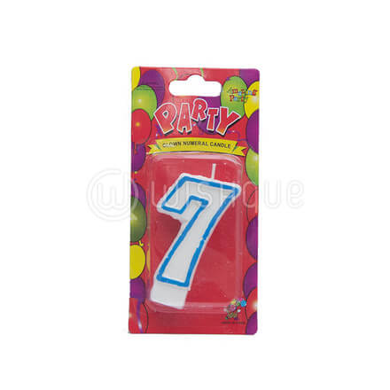 "Number ""7"" Candle"