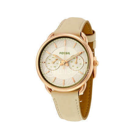 Fossil Women's Tailor Multifunction Light Brown Leather Watch