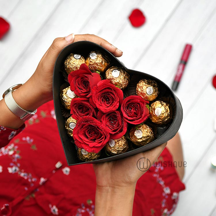 Hold My Heart Ferrerose Heart Box