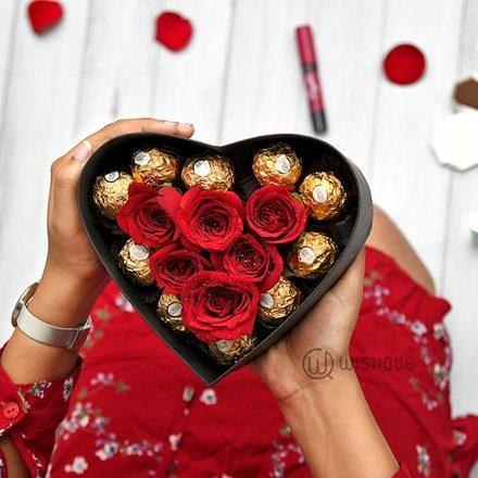 Hold My Heart Valentine's Treat Ferrerose Heart Box