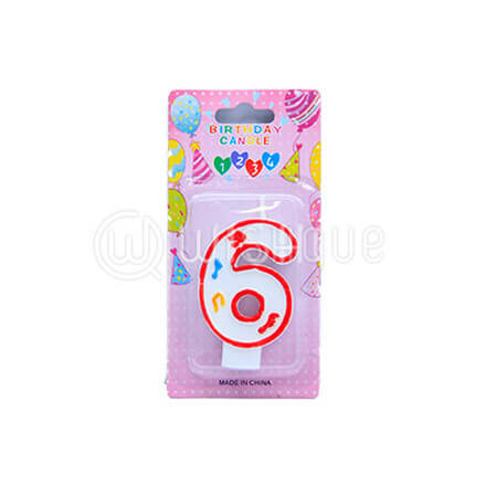 "Number ""6"" Candle"