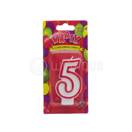 "Number ""5"" Candle"