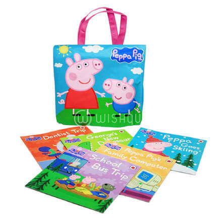 Peppa Pig Library Bag with story books
