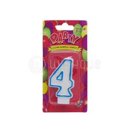 "Number ""4"" Candle"