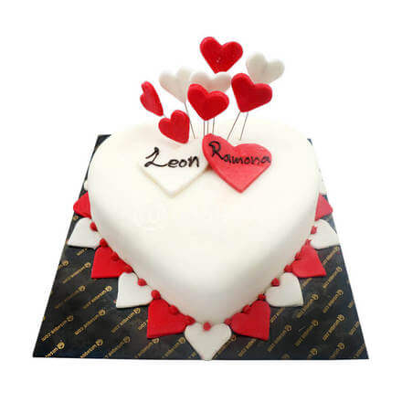 Our Love Heart Cake