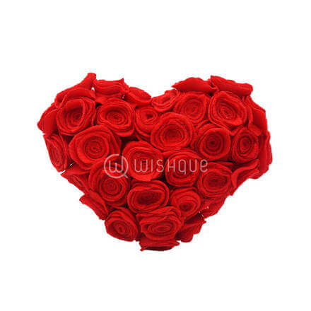 Heart Shaped Red Roses Posy