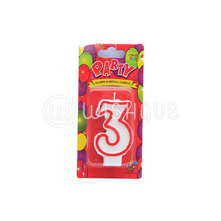 "Number ""3"" Candle"