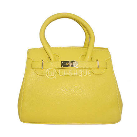 Imported Handbag - Yellow