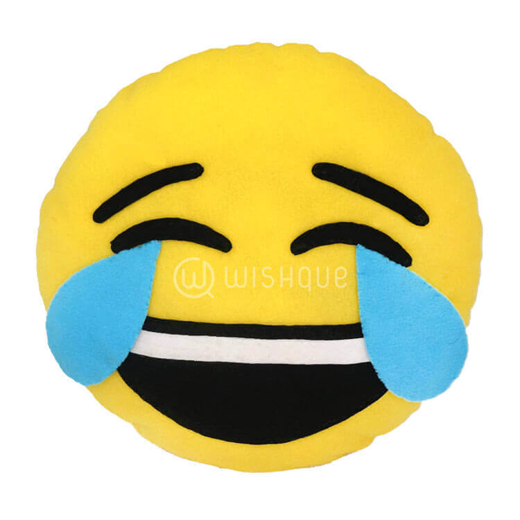 happy crying face emoji pillow wishque sri lankas