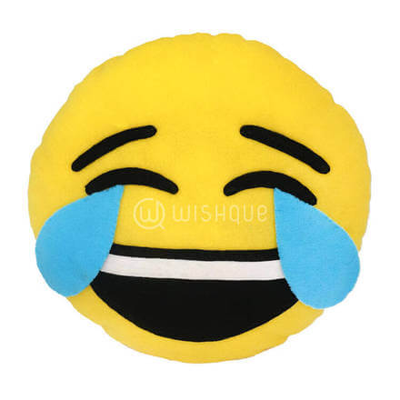 Happy Crying Face Emoji Pillow