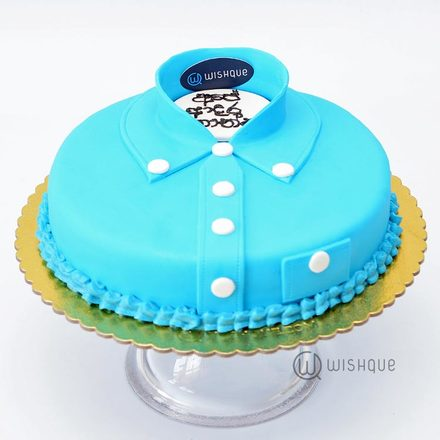 Dad Shirt Ribbon Cake