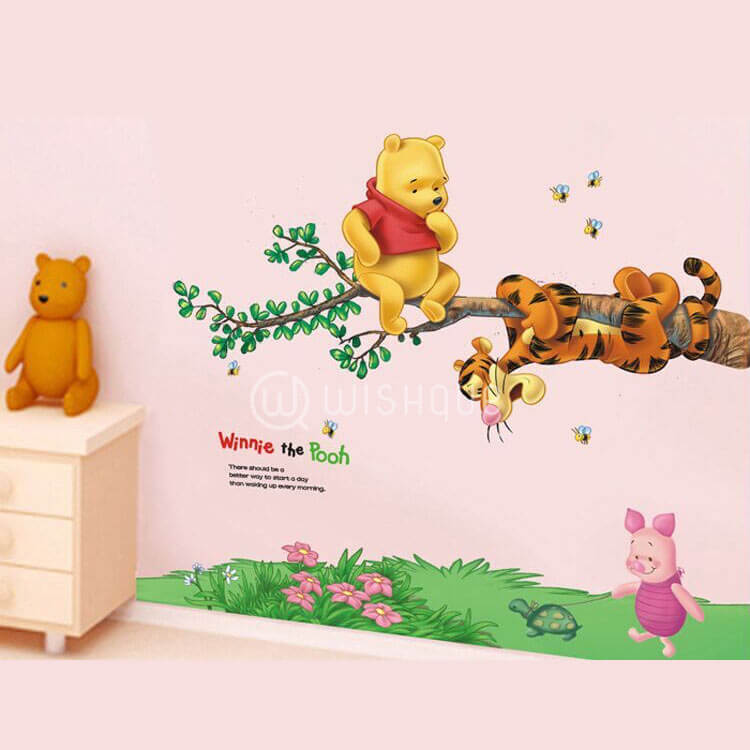 Pooh Tree Animal Cartoon Wall Stickers Part 77